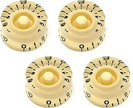 Vintage Forge Cream Speed Knobs for Epiphone Les Paul SG Electric Guitar (Set of 4) Fits 18 Coarse-Spline USA (Metric) Split Shaft Pots SK18M-CRM4