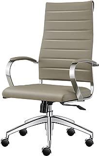 High Back Office Desk Chair-Grey