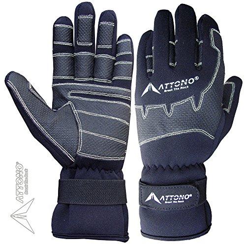 ATTONO Segelhandschuhe Winter Segeln Regatta Wassersport Handschuhe (9/L)