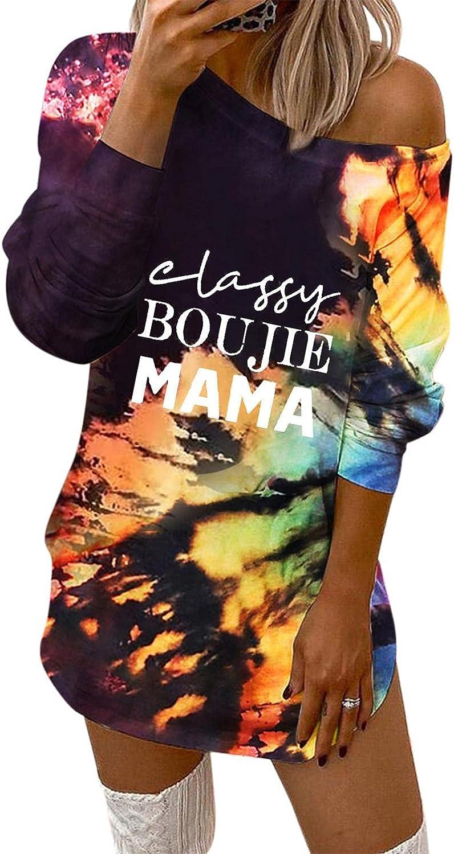 SUIQU Sweatshirts Dress Free shipping Max 85% OFF for Women Tie Letter Dye Casual Fashion