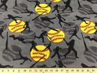 Gray Softball Fleece 2 Yard Piece