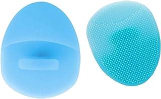 Súper suave silicona facial limpiador y masajeador cepillo Manual limpieza facial estera de | | mano depurador para sensible | Delicado | Piel seca (2 piezas)