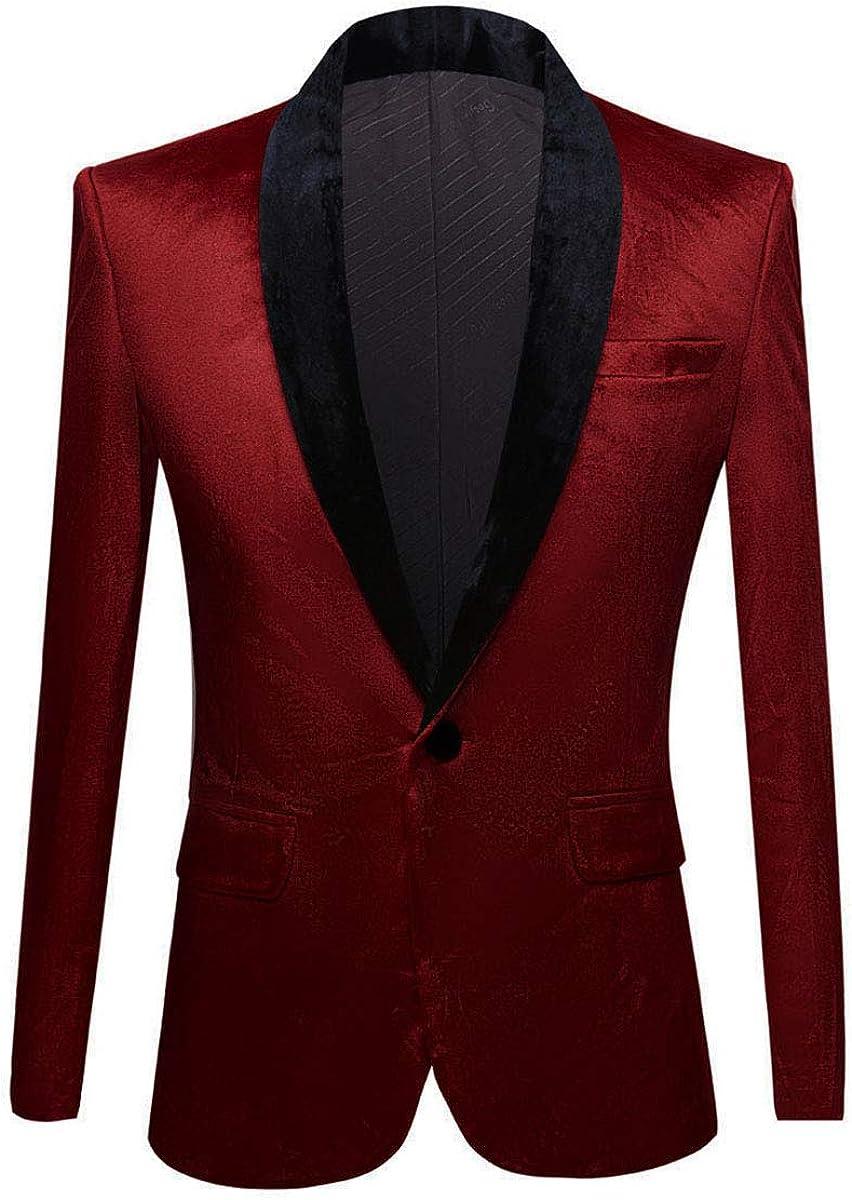 YOUZOO Men Fashion Manufacturer direct delivery Velvet Topics on TV Jacket Suit