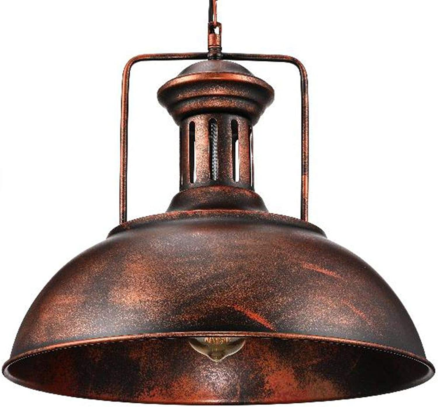 Industrial Nautical Barn Pendant Light - LITFAD 16  Single Pendant Lamp with Rustic Dome Bowl Shape Mounted Fixture Ceiling Light Chandelier in Copper,UL Listed