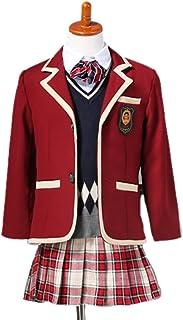 cnstone 子供服 子供フォーマル 女の子スーツ 男の子スーツ 卒園式 入学式 子供 スーツ 発表会 結婚式 制服 七五三 ワインレッド