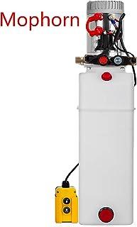 Mophorn Double Acting Hydraulic Pump Dump Trailer Plastic Hydraulic Power Unit (Plastic, 15 Quart/Double Acting)