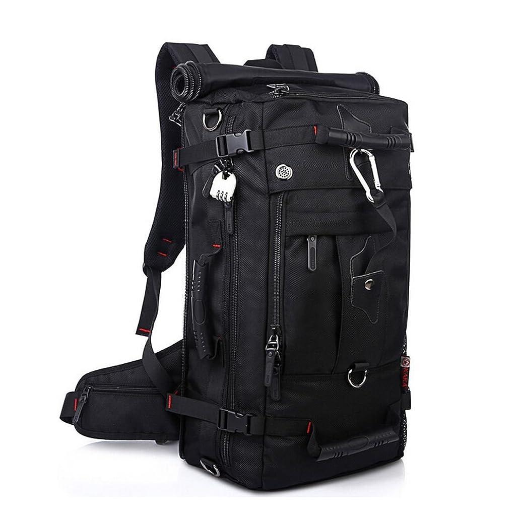 低い支援する日KAKA アウトドア 登山用バッグ 40L オックスフォード ブラック KAKA-2070