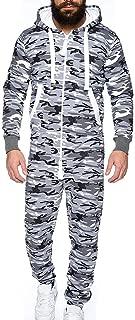 Sunward Men Clothing Set, Men Jumpsuit One-Piece Garment Non Footed Pajama Playsuit Blouse Hoodie