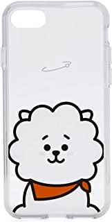 BT21 Official Merchandise by Line Friends - RJ Character Clear Case for iPhone 8 Plus/iPhone 7+, White