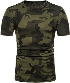 c45f4d4d868 OHQ Camisa De Polo Camiseta Estampada De Manga Corta con Estampado De  Camuflaje Personalizado para Hombre