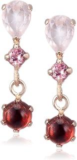 [CHIARO DI DIAMANTE] CHIARO DI DIAMANTE K10粉红金 玫瑰色石英&粉色碧玺&石榴石 耳环 CHS743