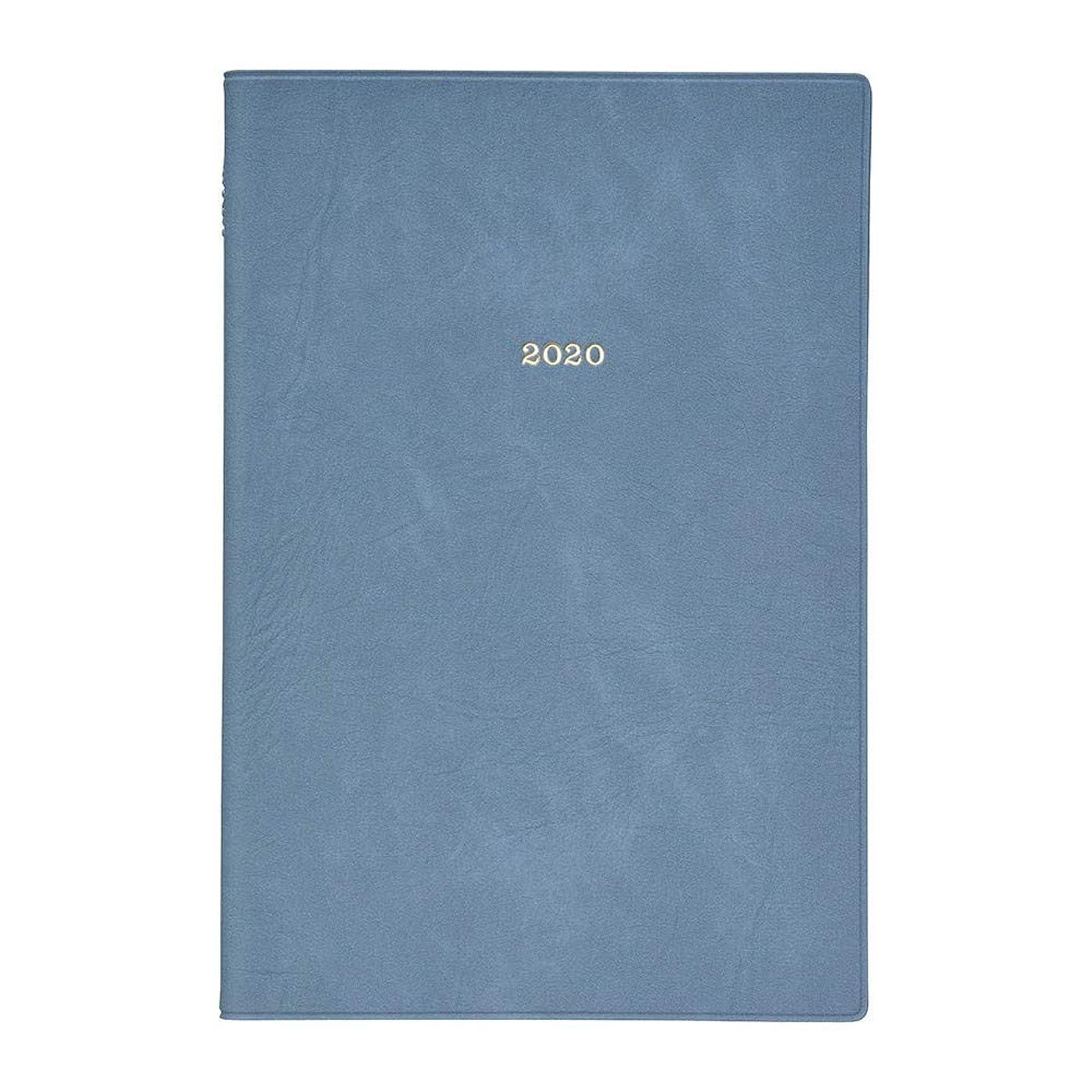 滑るスーパー提供マークス 手帳 2020 EDiT 週間バーチカル 2019年12月始まり B6変型 ニュアンスカラー ブルー 20WDR-ETF02-BL