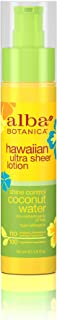 Alba Botanica Shine Control Coconut Water Hawaiian Ultra Sheer Lotion, 1.8 oz. (Pack of 6)
