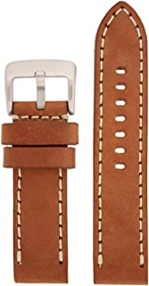 LEA1553-26 26 mm Leather Calfskin Brown Watch Band.