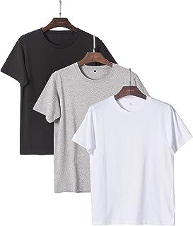 JinsX メンズファッション Tシャツ 半袖 3枚組 Tシャツ 無地 Tシャツ オーガニックコットン 吸汗速乾 Tシャツ 男女兼用 3枚組