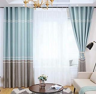 DYJNTRFG Schneeflocke Regenbogen Hanf Thermische Vorhänge Einfache Moderne  Wohnzimmer Schlafzimmer Hohe Verdunkelungsvorhänge 145cmx260cm (Breite X