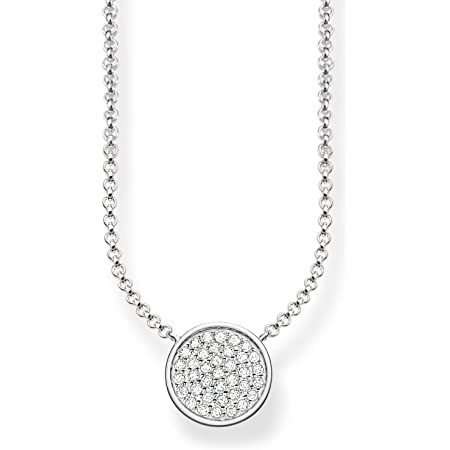 Thomas Sabo Women-Necklace 925 Sterling Silver Zirconia white Length from 40 to 45 cm KE1491-051-14-L45v