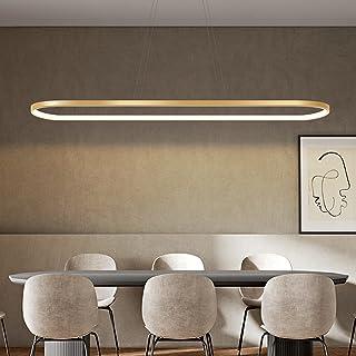 Bellastein suspension ovale lampes de bureau de table à manger, suspension LED plafonnier dimmable avec télécommande, lust...