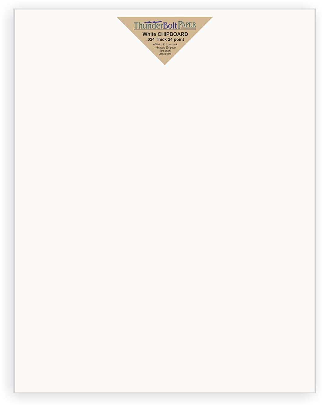 25 Sheets Chipboard 24pt white 1 side - 11