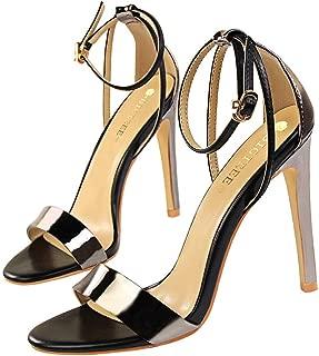 """Chaussures femme 7/"""" Super à Talon Haut Compensé Chaussures Plateforme Cheville Bretelles Sandales EU Taille 36-46"""