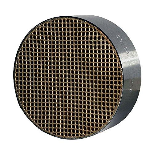Keramisk vaxkaka (CC-001) katalytisk kombustor (6 tum diameter x 5 cm bred inslagen i en rostfritt stål burk) för konsoliderade holländska träspisar (modeller 224, 2460, 2461, 2462, Large 264, extra stor 288, Andirondack, federal / lufttät, stenigt b