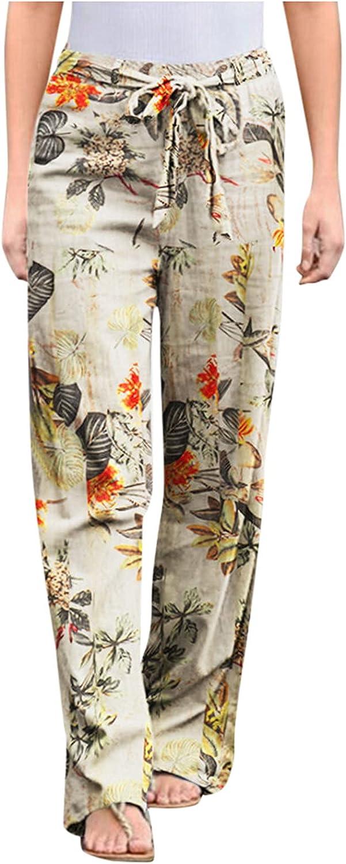 JINRS Women's Comfy Casual Pants Drawstring Palazzo Lounge Pants Wide Leg Women's Comfy Casual