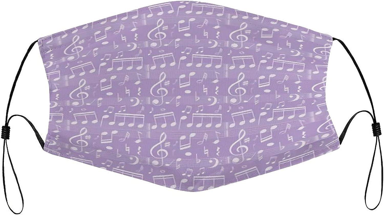 White Hearts Music Notes Face Mask Womens Mens Adjustable Reusable Balaclava Bandana Ourdoor