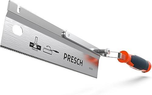 Presch saracco a dorso da 250 mm - Sega a mano estendibile pieghevole articolata per segare legno plastica PVC stucco...