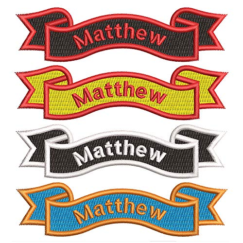 Custom Personalized Embroidered Name Patches, Embroidered Iron On/Sew...