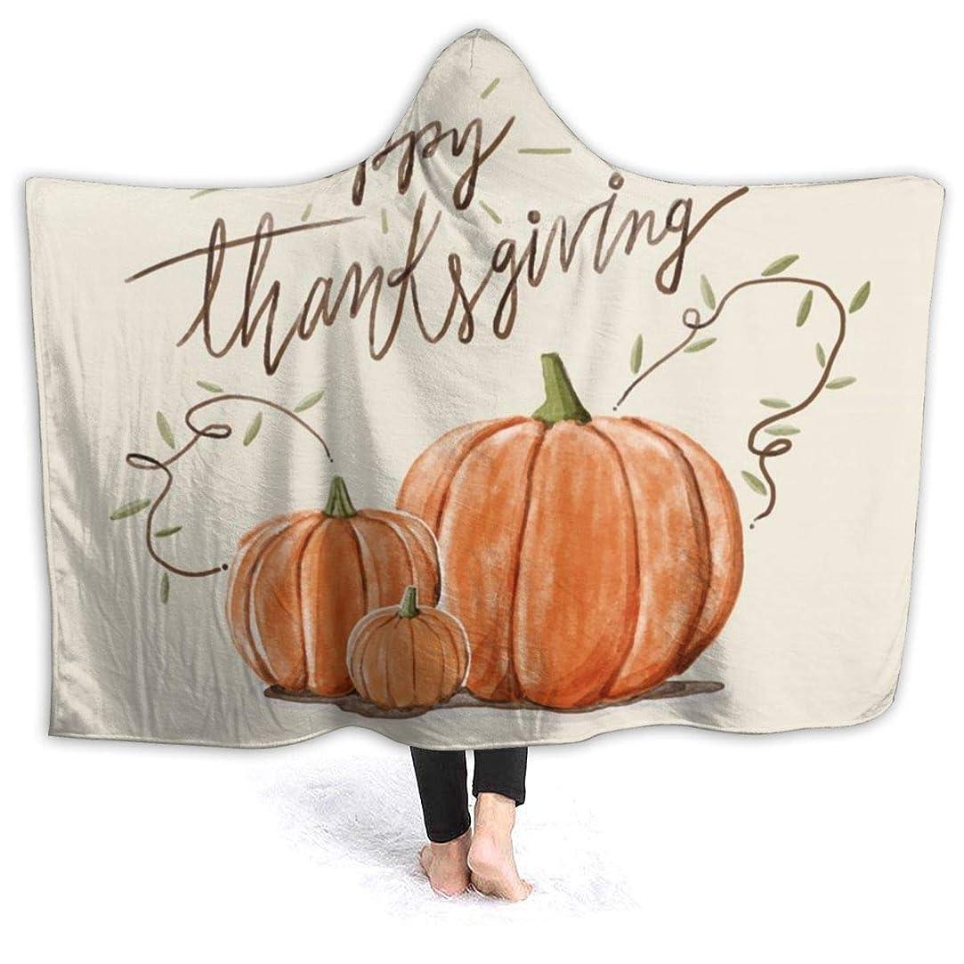 届ける補うみがきますYONHXJLAZ Thanksgiving Pumpkin 毛布 フード付き ブランケット 大判 タオルケット厚手 オールシーズン快適 軽量 抗菌防臭 防ダニ加工 オシャレ 携帯用,車用,オフィス用