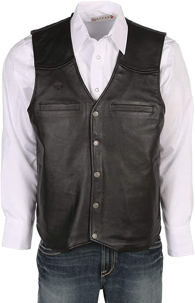 Wyoming Traders Popular shop is the lowest price challenge 67% OFF of fixed price Mens Black Vest Dovers Concealed Leather