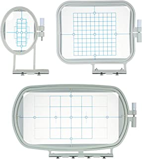 3pcs/set Embroidery Machine Hoop Frame Set Sew Tech Hoops Sewing Machine Accessories for Brother SE270D SE-350 SE-400 HE-1...