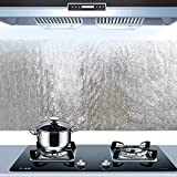 Bluelover Film Di Alluminio Da Cucina Olio Sticker Autoadesivo Anti Oil Kitchen Cabinet Pa...