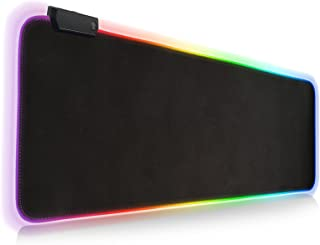 RGB Gaming Mouse Pad, Extra Large Soft Led Extended Mouse pad, anti-slip Rubber Base Computer Keyboard Mat