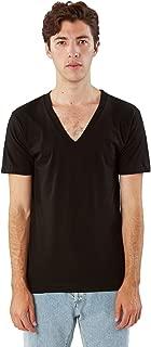 Men's Unisex Fine Jersey Short-Sleeve V-Neck