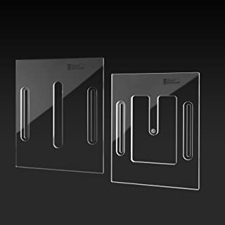StewMac Acoustic Neck Joint Routing Templates - Set of 2 for Straight Mortise and Tenon Neck Joint