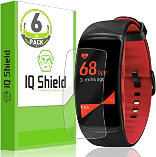 IQ Shield Screen Protector Compatible with Samsung Gear Fit 2 Pro (6-Pack) Anti-Bubble Clear Film