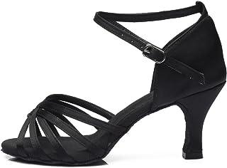 0aa1b264 HROYL Zapatos de Baile/Zapatos Latinos de satén Mujeres ES7-F13