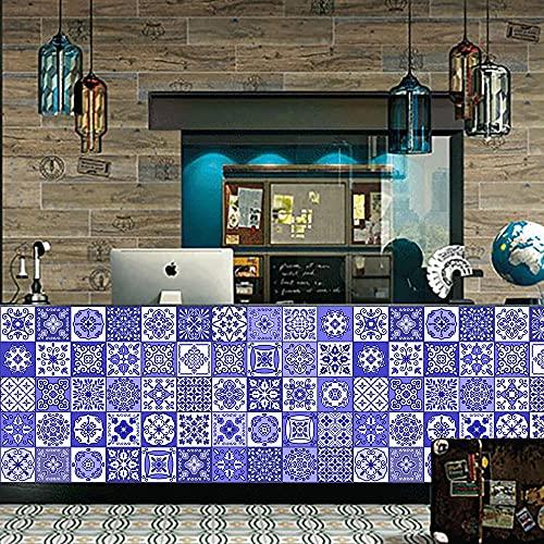 Pegatinas de pared púrpuras y blancas Azulejos de pared Pegatinas de azulejos, PVC ambiental Decoración autoadhesiva móvil Baño de cocina 15 cm * 75 cm 5 piezas