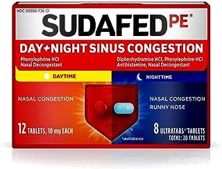 Sudafed PE Day + Night Sinus Congestion Tablets - 20 ct