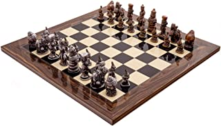 The Berkeley AJEDREZ Alicia en el país de Las Maravillas Metal &Palisandro Juego de ajedrez