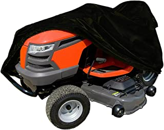 Waterproof Lawn Mower Cover, Durable Premium Lawn Tractor Cover Fits Decks up to 54