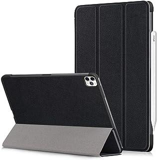 حافظة لجهاز ايباد برو 11 انش إصدار 2020 مع حماية للشاشة، تدعم قلم ابل، خفيفة الوزن، خاصية النوم/الاستيقاظ التلقائي - اسود