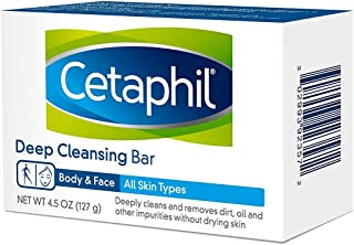 Cetaphil Deep Cleansing Face & Body Bar for All Skin Types (Pack of 6)