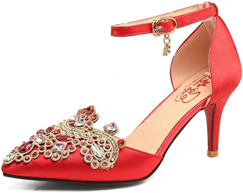 1TO9 Womens Studded Non-Marking Mini-Size Bridal Urethane Sandals MJS03373