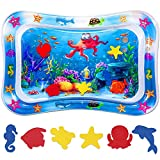 Niskite Baby Toys Tummy Time Mat: Infant Toys for 0 3 6 12 Month Boy Girls| Inflatable Activity Belly Time Water Toys Play Mat| Sensory Newborn Toy Gifts for Babies Toddlers