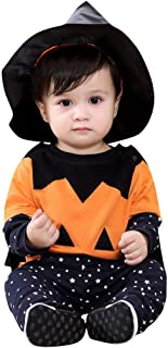 1-5Years Newborn Halloween Long Sleeve Smiley Face + Star Pattern Pants + Cloak + Pointed Cap Four Piece Set