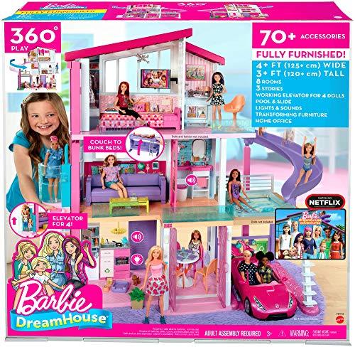Maison de Rêve Barbie avec Garage Ascenseur Piscine et Glissade - 7