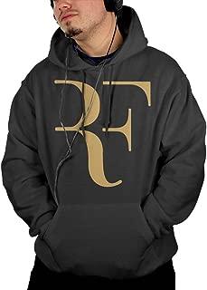 Roger Federer Men's Hoodies Hoodie with Pocket Hooded Sweatshirt Black M
