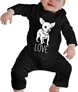 Love Chihuahua Baby Girls Boys Long-Sleeve Bodysuits Onesies Casual Cotton Baby Onesies
